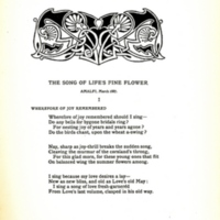 The Song of Life's Fine Flower