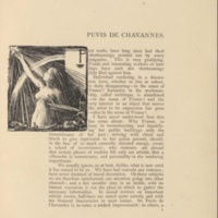 Puvis de Chavannes Decorated Page