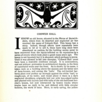 Cobweb Hall, decorated page