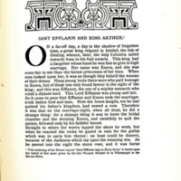 Sant Efflamm and King Arthur, decorated page