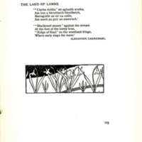 The Land of Lorne, decorated page