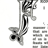 From Four Easter Letters, initial letter