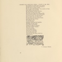 Chorus of Grecian Girls Decorated Page