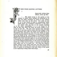 From Four Easter Letters